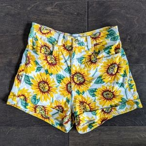 🌻 American Apparel Jeans Sunflower Shorts